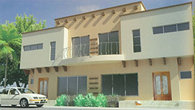 Bahria Town 10 Marla 4 Bed House Design .BDS 329